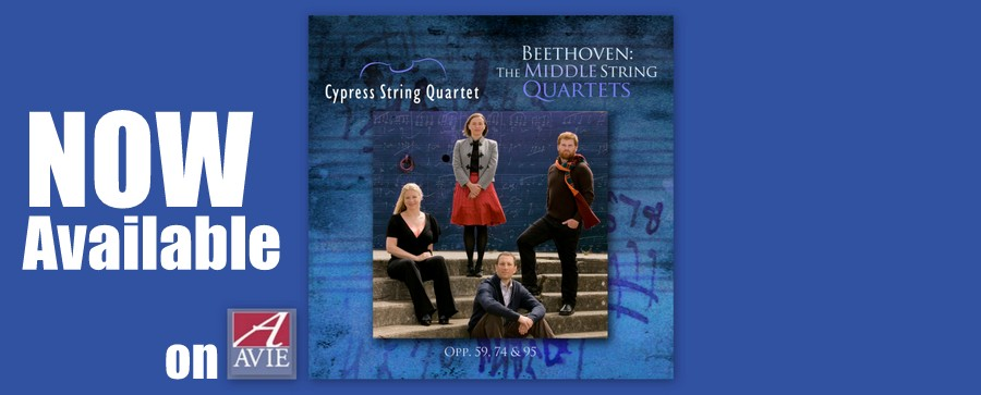 Beethoven: The Middle String Quartets - Now Available!